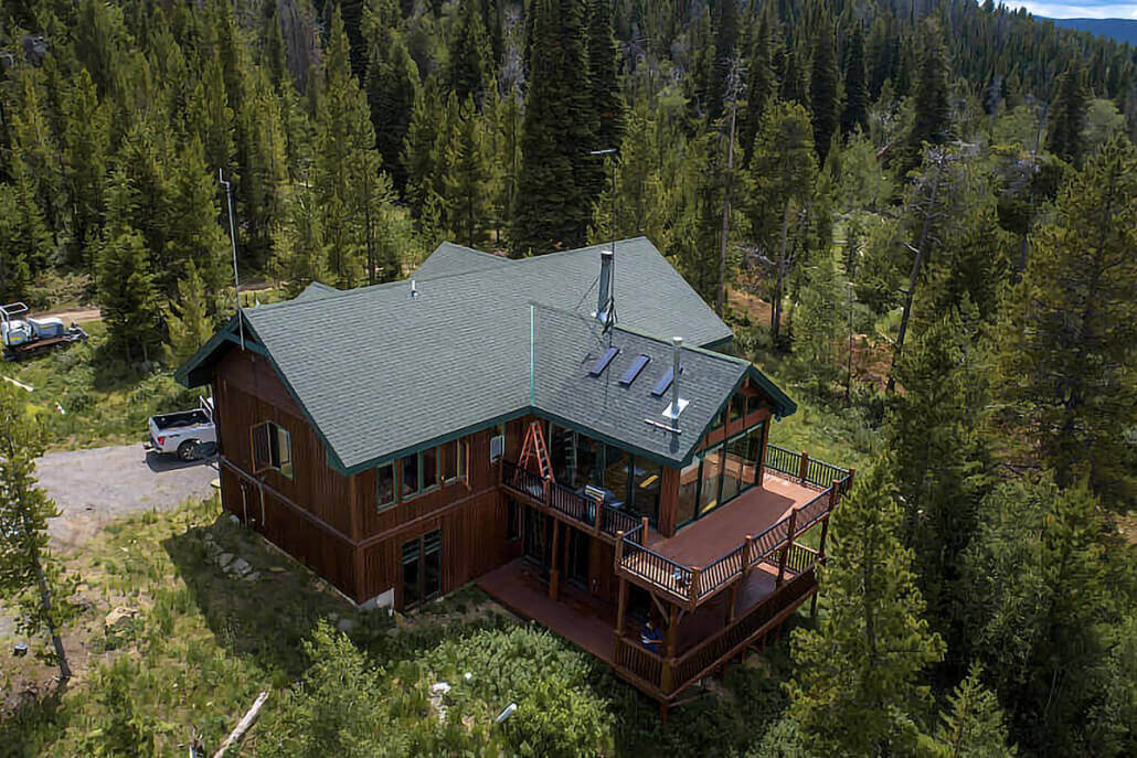 overhead view of house in Fermont county